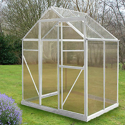 4 Sizes Greenhouse Aluminium PolyCarbonate Base Silver UV Clip-less Twin Wall