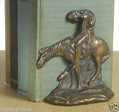 End of the Trail Bookends made by W.H. Howell Company 1920 ARTS & CRAFTS ANTIQUE