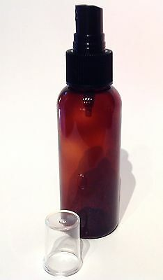 100ML SIZE AMBER PET PLASTIC BOTTLE with SPRAYER ~ ECO FRIENDLY