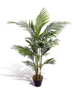 Best Artificial 120cm 4ft ARECA PALM Tree Tropical Office PLANT Conservatory New