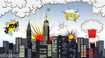 Superhero Scenery Vinyl Photography Backdrop Background Studio Prop 7X5FT In US