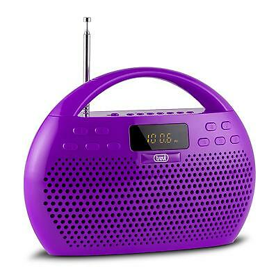 Trevi Boombox Digital Radio Ukw Empfang Stereo Bluetooth Microsd Usb Violett