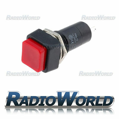 Red Momentary OFF-(ON) Square Push Button Switch SPST 12v Car Dash Horn