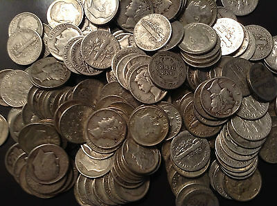2 TWO LB Pound BAG 90% Mixed U.S. Junk Silver Bullion Coins 90% Silver Pre-1964