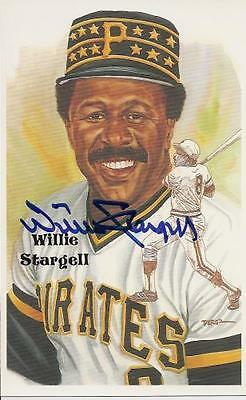 Willie Stargell Autographed Limited Edition Pirates Hof Perez Steele Postcard