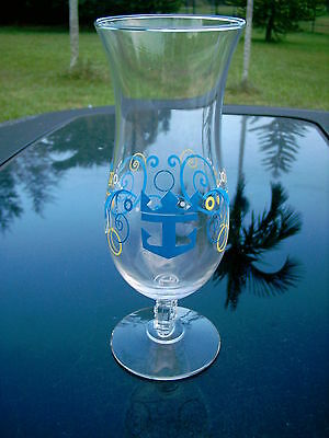 """Royal Caribbean  Party  Logo Stemmed  Drinking Glass 8.25"""""""