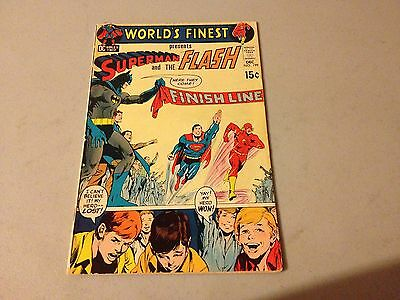 WORLD'S FINEST #199 Silver Age comic SUPERMAN FLASH RACE Key Issue