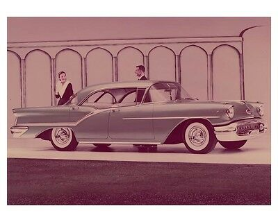 1957 Oldsmobile 98 Holiday Hardtop Automobile Factory Photo ch8281