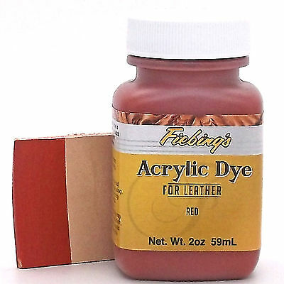 Fiebing's Acrylic Leather Dye Red Paint 2 oz. (59mL) 2604-04 ACRD68P002Z