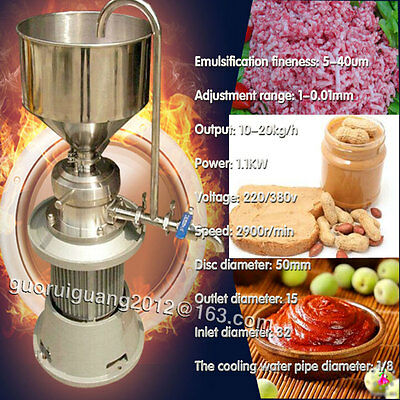 Coating Grinding Machine Colloid Mill Sesame Colloid Mill,10-20kg/h output
