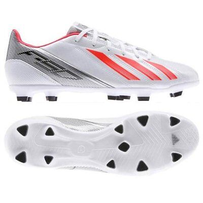 Adidas F10 TRX FG White Performance Boys Kids Football Moulded Studs Boots