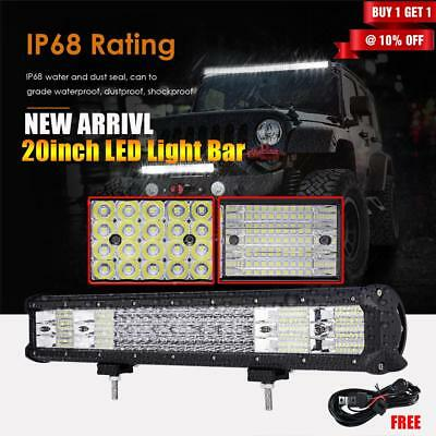 5D OSRAM 20Inch 294W LED Work Light Bar Flood Spot Offroad Driving Lamp 4WD SUV