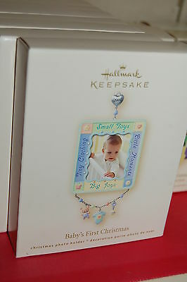 Hallmark 2007 Baby's 1st Christmas PHOTO dated Ornament