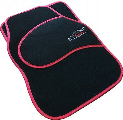 Full Black Carpet Car Floor Mats With Red Boarder For Mitsubishi 3000 GT, ASX, C