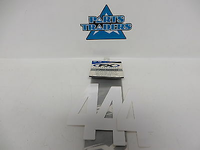 """NOS Factory Effex 7"""" Pro Numbers 3.5"""" Wide #4 White Universal Fitment FX02-4354"""
