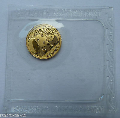 2011 China / Chinese Panda 1/20 oz 20 YUAN Mint Sealed / OMP Gold Bullion Coin