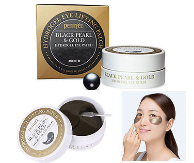 Petitfee / Black Pearl & Gold Hydrogel Eyepatch (1.4g x 60sheet) / Korean Made
