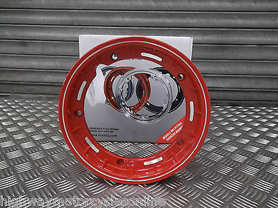 Vespa Px125 Px 125 Fa Italia Red Chrome Tubeless Wheel Rim Like Sip Stunning