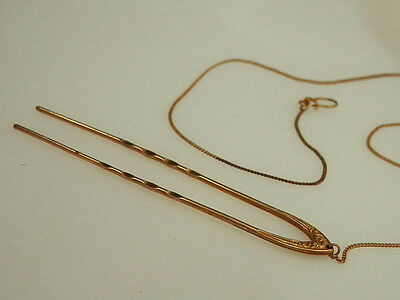 Neat=-O Victoria Gold Plated Hair Pin With Chain 12M5