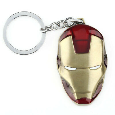 6cm Quality Detailed Metal Red Iron Man Keyring Keychain Pendent New