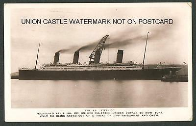 Original Postcard White Star Line Ss Titanic Building Belfast Posted May 1912
