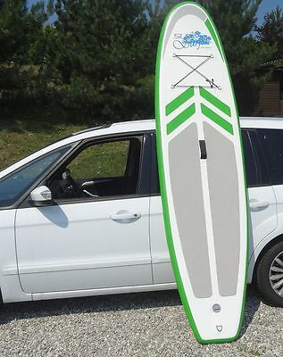 10° SUP Board, Stand Up Paddle, grün/weiss , inflatable / aufblasbar *NEU*