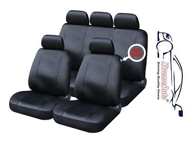 X-Type Bloomsbury Beige Leather Look 8 PCE Car Seat Covers For Jaguar S-Type