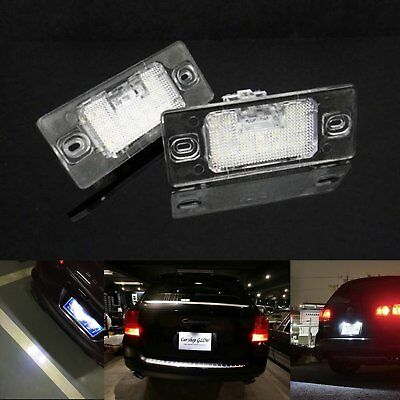 2 VW Canbus LED Licence Number Plate Light Touareg Passat Golf Touring Tiguan 5N