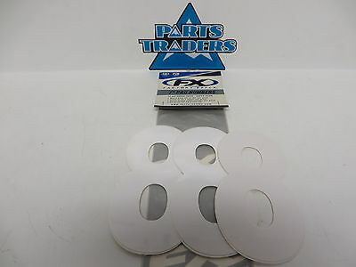 """NOS Factory Effex 7"""" Pro Numbers 12mil Thick #8 White Universal Plate Numbers"""