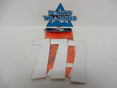 """NOS One Industries 7"""" Pro Numbers White #7 OINU7-7-WH 3PK"""