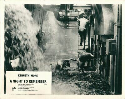 A Night To Remember original lobby card flodding in the Titanic engine room