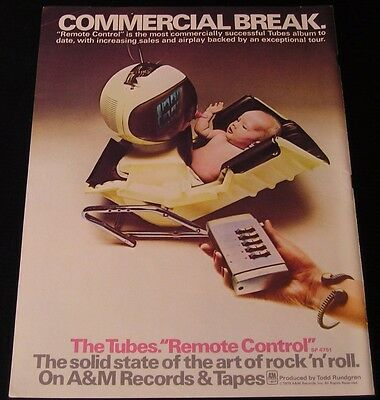 The Tubes - ORIGINAL 1979 Remote Control  14.5 x 11 COLOR Ad/Poster!