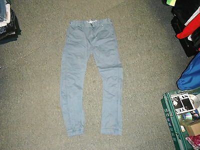 "TU Cuffed Arc Leg Jeans Waist 30"" Leg 26"" Blue Faded 12 Yrs Boys Jeans"