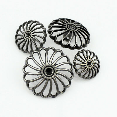 12PCS Metal Pierced Hollow Shank overcoat Buttons15mm 18mm 20mm 23mm 25mm