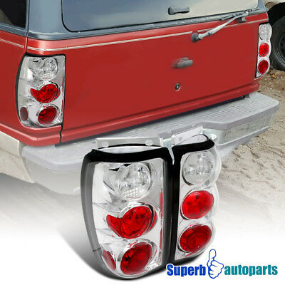 1995-1997 Ford Explorer SUV Black Replacement Tail Lights Rear Brake Lamps Pair