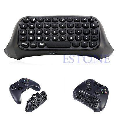 Black Portable USB Wireless Chatpad Message Keyboard fr Xbox One Controller 2.4G