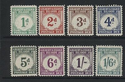 Gilbert & Ellice Is. - 1940 Postage Due Set Mint Sg.d1-8         (Ref.a28)