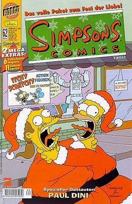 Simpsons Comics Band 62 + EXTRAS: MAGNETE + STICKER OVP
