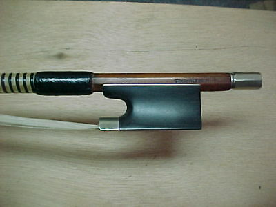 "Old Pernambuco Violin Bow  Stamped:  ""SILVESTRE & MAUCOTEL"""