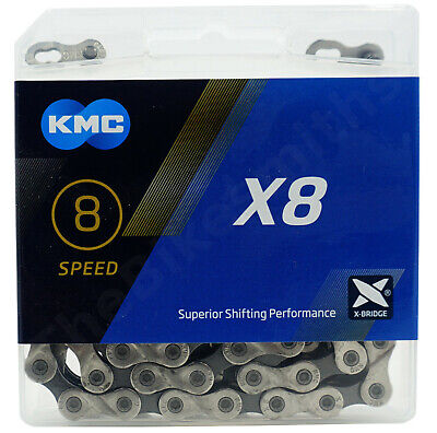 KMC X8.93 8 Speed Chain fit Shimano SRAM MTB Hybrid Road Bike 6 7 3/32""