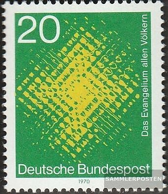 BRD 647 FDC 1970 Weltmission