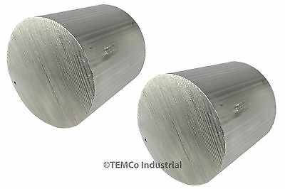 "2 LOT 2.75"" Inch Diameter 3"" Long 6061 Aluminum Round Bar Lathe Rod Stock"