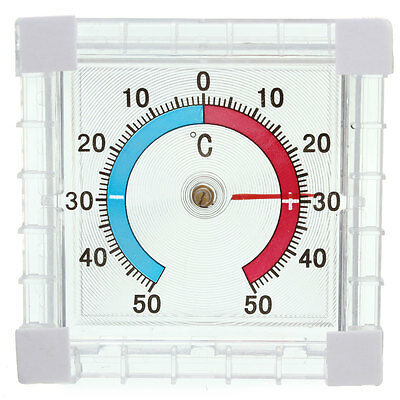 Pro Window Wall Greenhouse Bathroom Home Office Temperature Thermometer Gauge