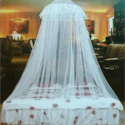 New Lace Bed Mosquito Netting Mesh Canopy Princess Round Dome Bedding Net B