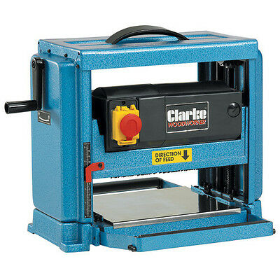 "CLARKE WOODWORKER CARPENTER PLANER THICKNESSER 10"" 230v 1250w CPT250 6500860"