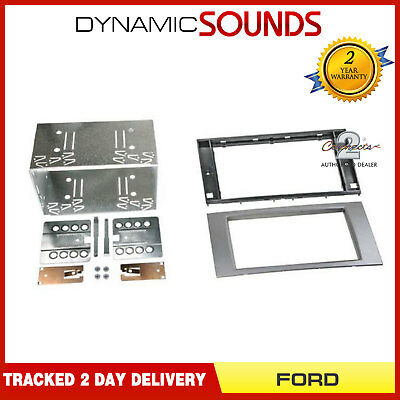 CT23FD52 Double Din Car Stereo Fascia Fitting Kit Silver For FORD Transit