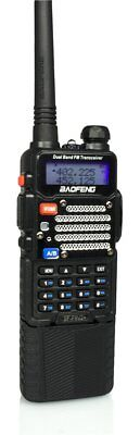 Baofeng Black BF-F9 V2+ 3800 mah Extended Battery FM DualBand Two-way Ham Radio