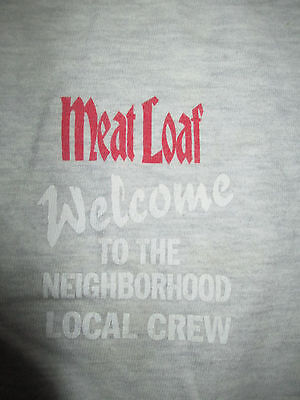 """1995 MEAT LOAF """"Welcome to the Neighborhood"""" LOCAL CREW Concert (XL) T-Shirt"""