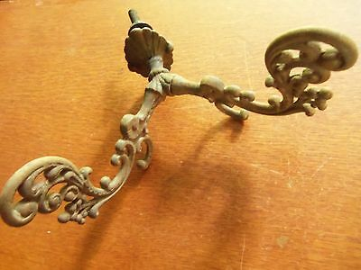 Antique Fancy Iron Victorian Halltree or Wardrobe Hat or Coat Hook c.1885