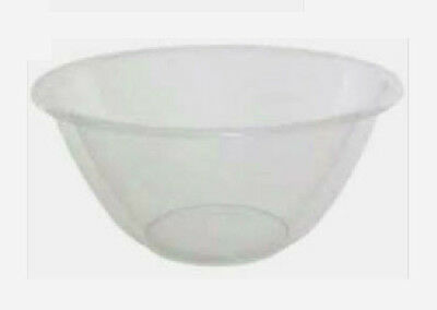 Clear Plastic Mixing Bowl 23cm External Diameter x 10cm Height Cooking Baking